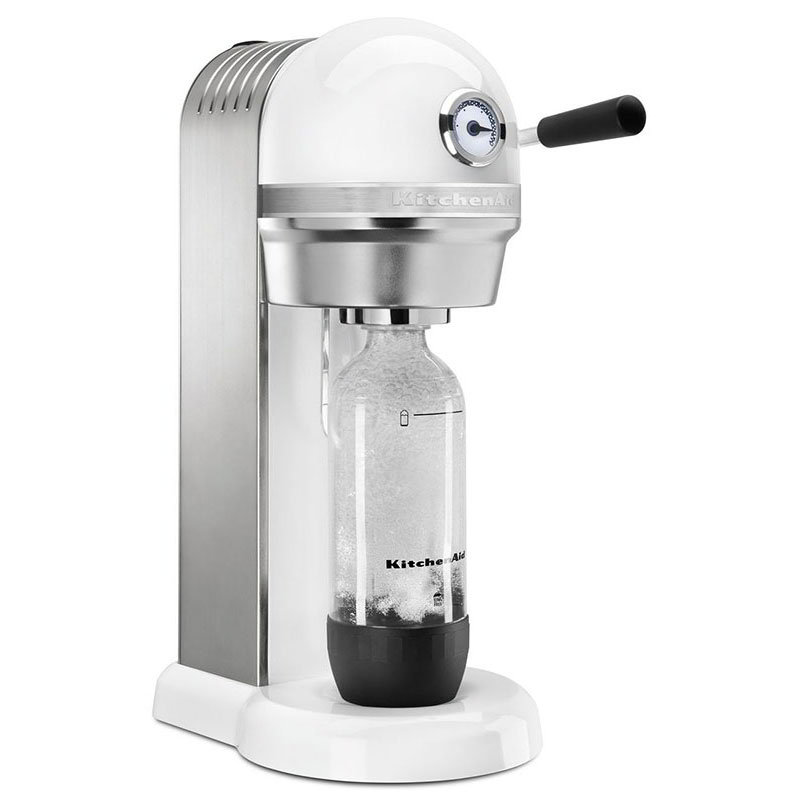 KitchenAid KSS1121WH Sparkling Beverage Maker powered by SodaStream® w/ Starter Pack, White