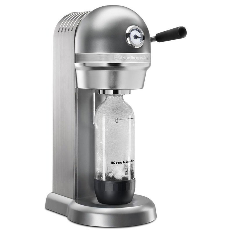 KitchenAid KSS3121CU Sparkling Beverage Maker powered by SodaStream® w/ Starter Pack, Silver