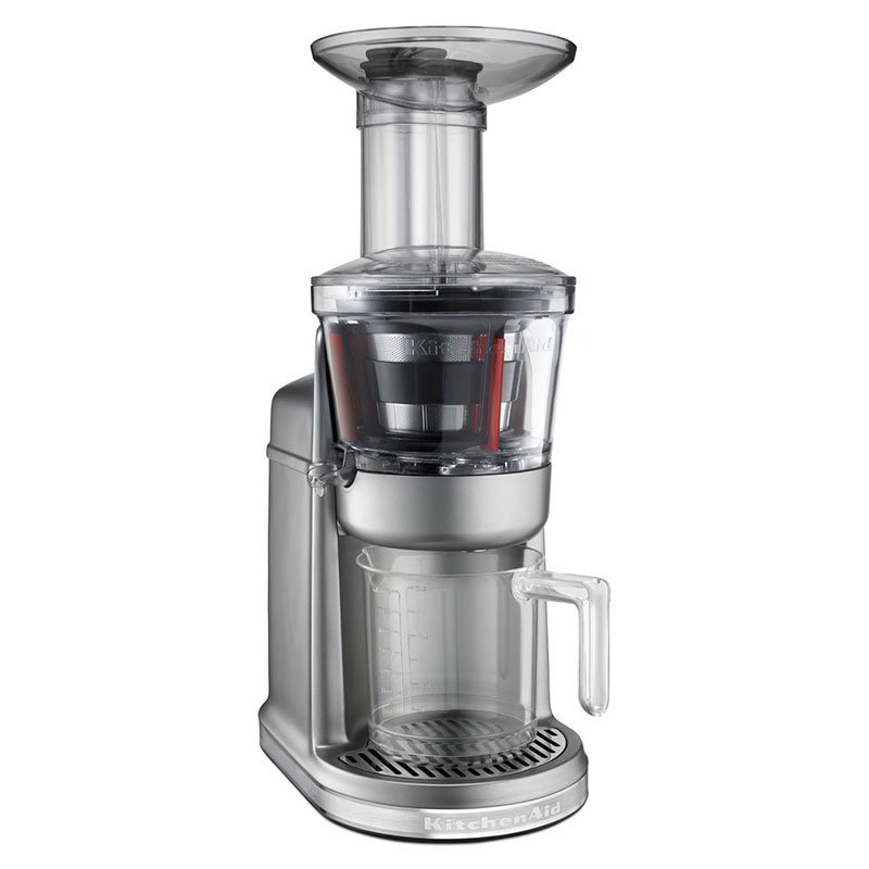 KitchenAid KVJ0111CU Maximum Extraction Juicer w/ 2-Stage Blade, Contour Silver