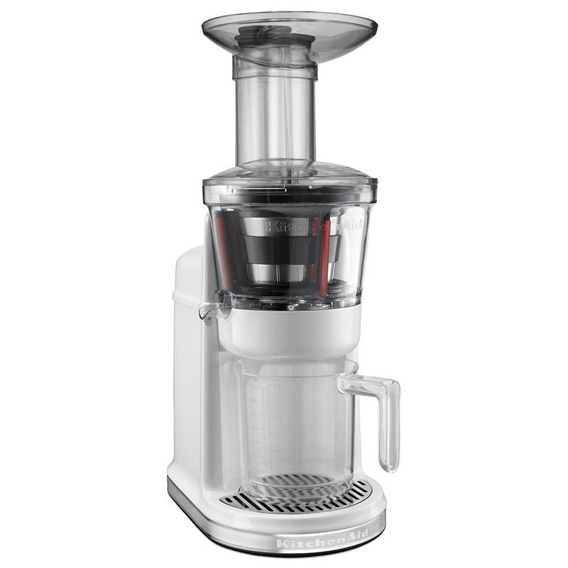 KitchenAid KVJ0111WH Maximum Extraction Juicer w/ 2-Stage Blade, White
