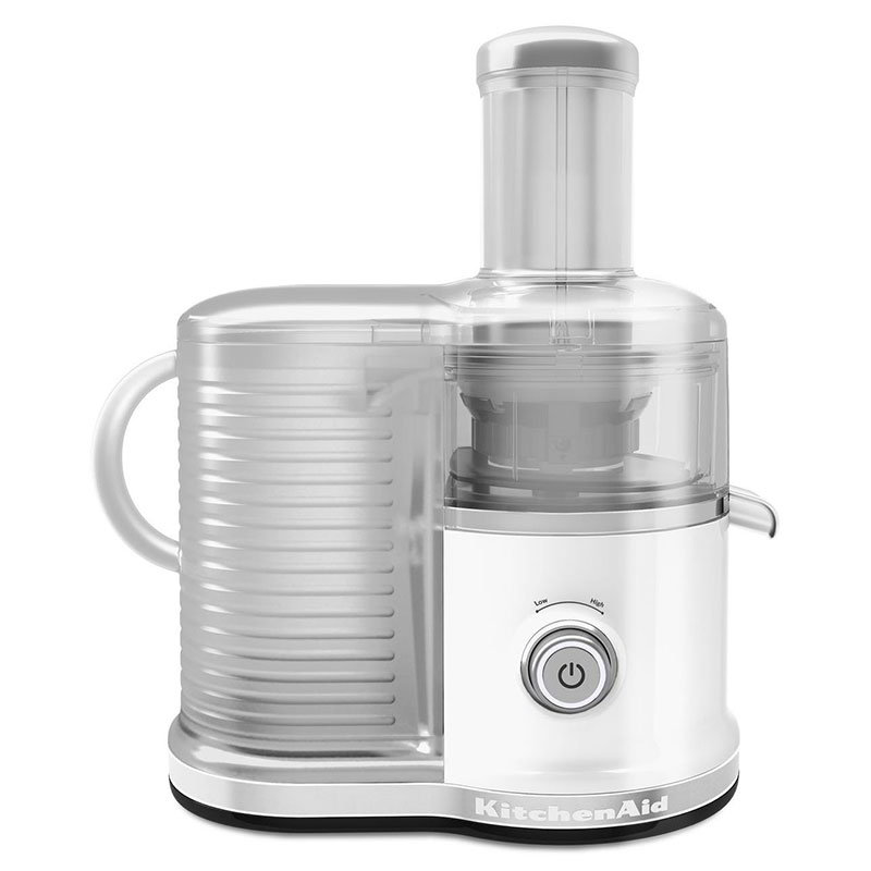KitchenAid KVJ0333WH Easy Clean Juicer w/ BPA-Free Juice Pitcher, White