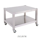 "Garland A4528351 36"" Equipment Stand, Base w/ Shelf, Swivel Casters, Stainless"