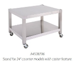 Garland A4528796 24-in Equipment Stand, Base w/ Shelf, Swivel Casters, Stainless