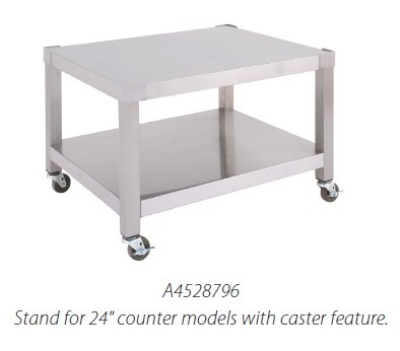 "Garland A4528800 60"" Equipment Stand, Base w/ Shelf, Swivel Casters, Stainless"