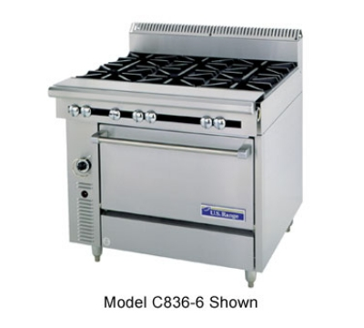 Garland C0836-13C 36 in Cuisine Series Heavy Duty Range 4 Burner Restaurant Supply