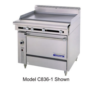 Garland / US Range C0836-2 NG 36 in Cuisine Series Heavy Duty Range Manual 1 Griddle 2 Right Burners NG Restaurant Supply