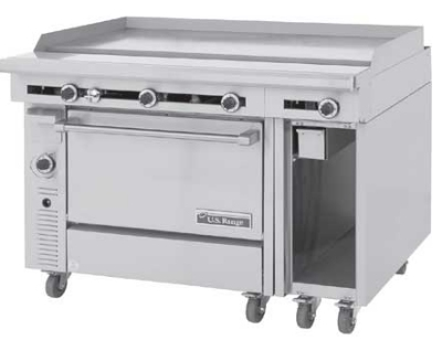 Garland / US Range C836-48-1 NG 48 in Cuisine Heavy Duty Range Thermo 48 in Griddle Oven & Storage Area NG Restaurant Supply