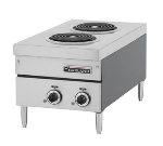 "Garland E24-12H 2081 Countertop E24 Series Hotplate, 15""W, (2) Flat Elements, 208/1 V"