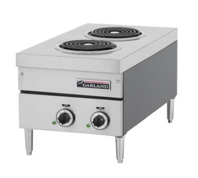 Garland E24-12H 2081 Countertop E24 Series Hotplate, 15 in W, (2) Flat Elements, 208/1 V