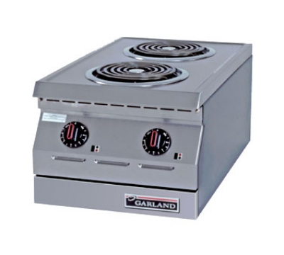 "Garland ED-15H 15"" Electric Hotplate w/ (2) Burners & Infinite Controls, 240v/3ph"