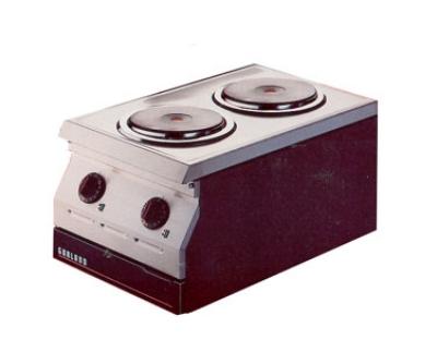 Garland / US Range ED-15THSE 2081 Countertop Designer Series Hotplate 15 in 2 Burners 6 in Elements 208/1 V Restaurant Supply