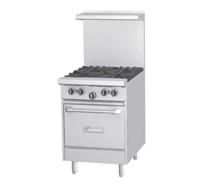 "Garland G24-4L 24"" 4-Burner Gas Range, LP"