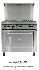 "Garland G36-G36R 36"" Gas Range with Griddle, LP"