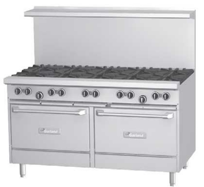 Garland / US Range G60-6G24RR LP G Starfire Pro Series Range 60 in 6 Burners Griddle 2 Standard Ovens LP Restaurant Supply