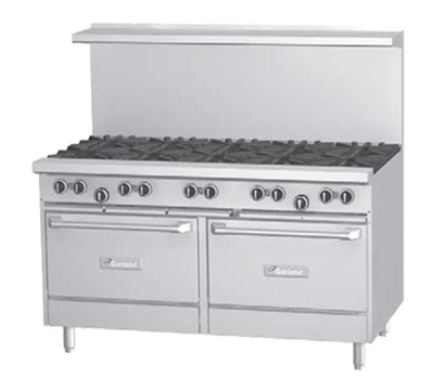 "Garland G60-4G36RR 60"" 4-Burner Gas Range with Griddle, LP"