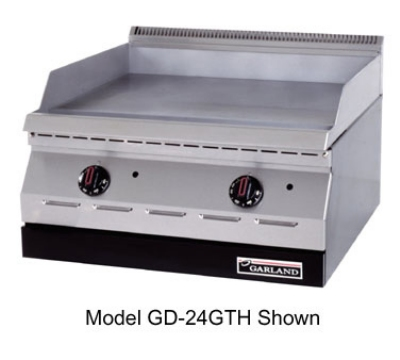 "Garland GD-15GTH 15"" Gas Griddle - Thermostatic, 1/2"" Steel Plate, NG"