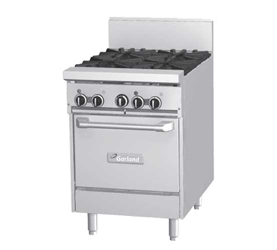 "Garland GF242G12TLP 24"" 2-Burner Gas Range with Griddle, LP"