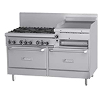 "Garland GFE60-6R24RR 60"" 6-Burner Gas Range with Griddle & Broiler, NG"