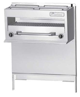Garland / US Range GFIR60 NG 35-1/2 in Salamander Broiler w/ 24 in H Shelf for GF60 Range 2 Burners NG Restaurant Supply