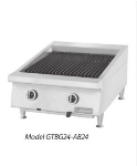Garland GTBG24-NR24 LP 24 in Garland Countertop Charbroiler, Non-Adjustable Cast Iron Grates, LP