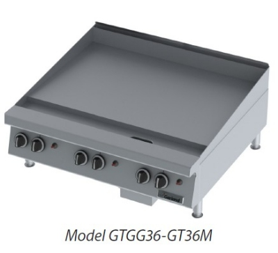 "Garland GTGG36-G36M NG 36"" Gas Griddle - Thermostatic, 1"" Steel Plate, NG"