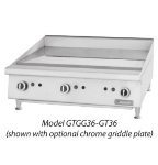 Garland GTGG36-GT36 NG 36-in Griddle w/ 1-in Steel Plate & Snap Action Control, NG