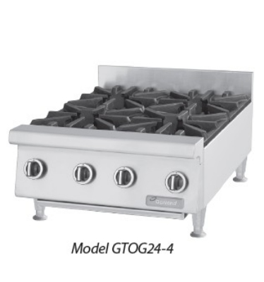 "Garland GTOG12-2 12"" Gas Hotplate w/ (2) Burners & Manual Controls, LP"