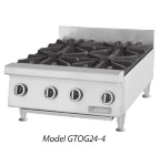 Garland GTOG36-6 NG 36 in Countertop Hotplate, 6 Open Burners, Manual Control, NG