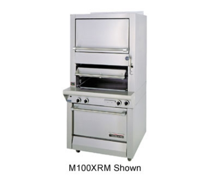 Garland M100XRM LP Deck Type Broiler w/ Finishing Oven & Standard Oven Base, LP