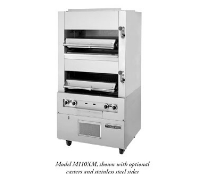 Garland M110XM NG Master Series Double Broiler, Two Infrared Decks w/ Enclosed Base, NG