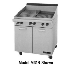 "Garland M34BT Master Series Charbroiler, 34""W x 23""D, Briquettes, Modular, LP"