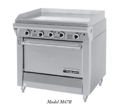 Garland / US Range M48-51R NG Master Series Heavy Duty Range 51 in Fry Top w/ Thermo Oven/Cabinet Base NG Restaurant Supply