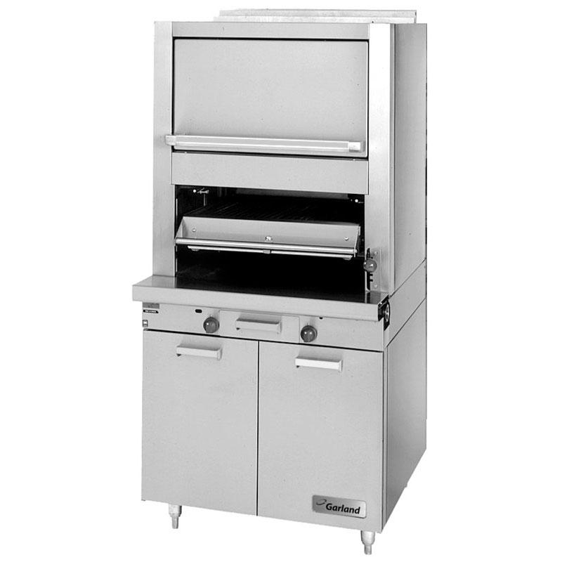 Garland M60XR NG Deck Type Broiler w/ Upper Finishing Oven, Standard Oven, NG