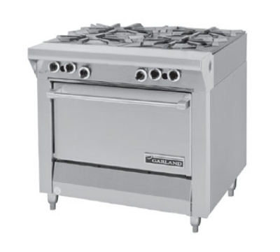 Garland / US Range MST44S-E LP Master Sentry Series Range 34 in 4 Burners w/ Flame Fail Storage Base LP Restaurant Supply