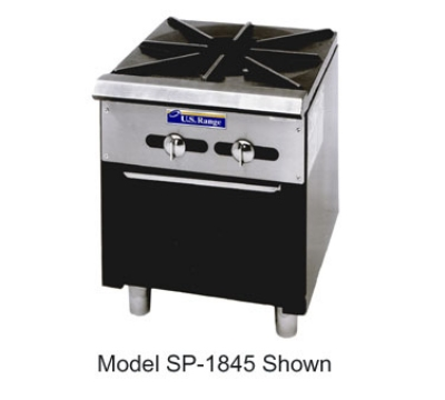 Garland / US Range SP-1844-2 LP Regal Series Double Stock Pot Range 2 Burners Manual Stainless Front LP Restaurant Supply