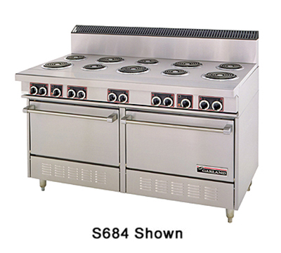 "Garland SS684 60"" 10-Sealed Element Electric Range, 208v/1ph"