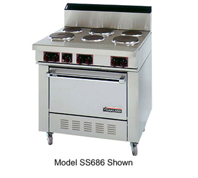 "Garland SS686 36"" 6-Sealed Element Electric Range, 208v/1ph"