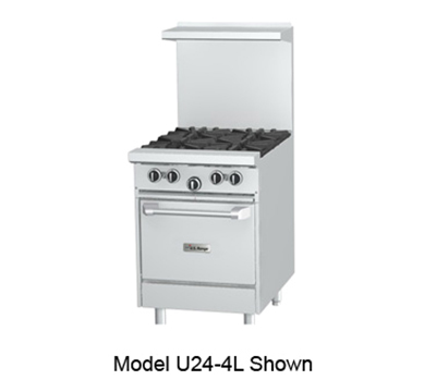 "Garland U24 24"" 4-Burner Gas Range, NG"
