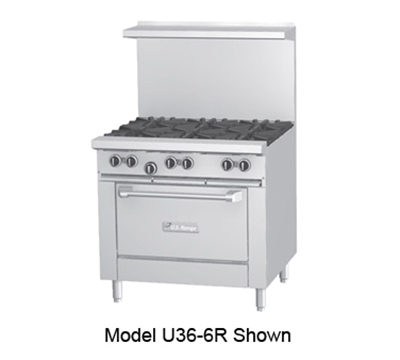 "Garland U36 36"" 6-Burner Gas Range, NG"