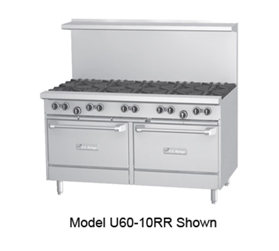 "Garland U60 60"" 10-Burner Gas Range, LP"
