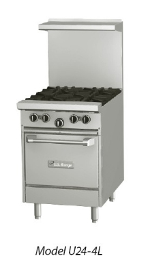 Garland / US Range U48-4G24LL NG 48 in U Series Restaurant Range 4 Burners Griddle 2 Space Saver Ovens NG Restaurant Supply