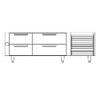 "Garland UN17FC84 84"" Chef Base w/ (4) Drawers - 115v"