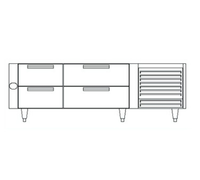 "Garland UN17FC90 90"" Chef Base w/ (4) Drawers - 115v"