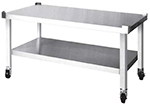 Garland HEMST-48 Equipment Stand, Open Base w/ Intermediate Shelf, Stainless Finish, 48x21""
