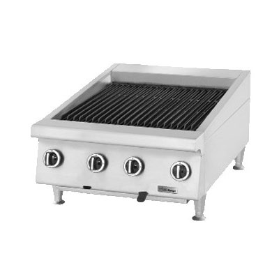 "Garland UTBG36-NR36 36"" Countertop Charbroiler w/ Cast Iron Grates - Manual Controls, NG"
