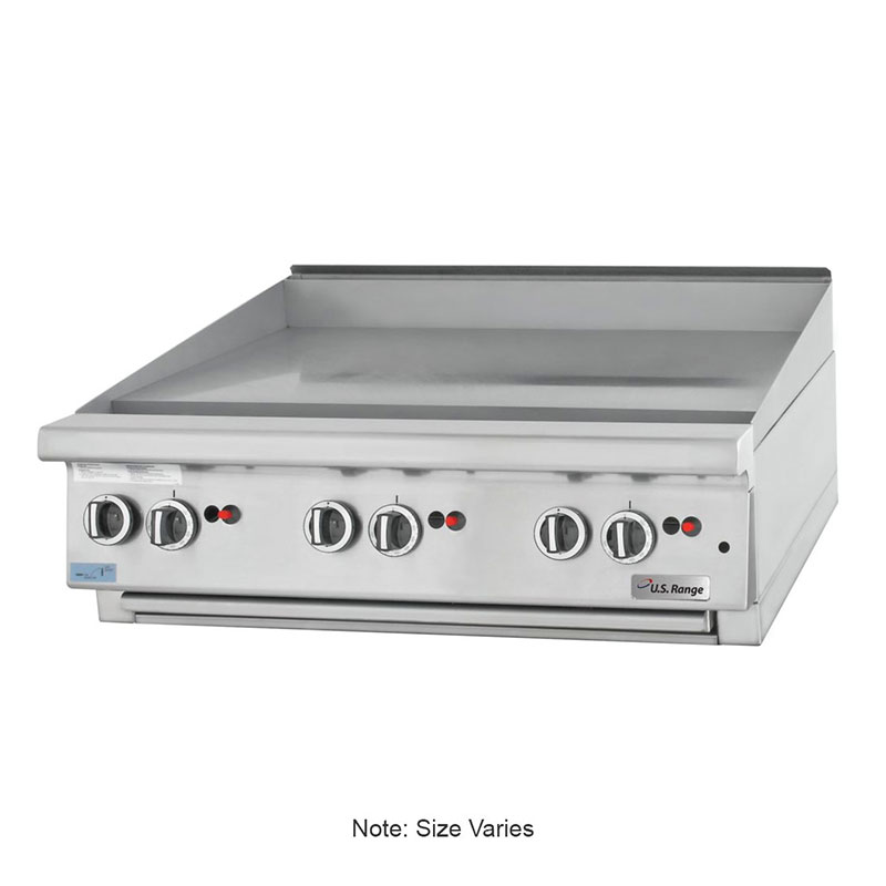 """Garland UTGG48-GT48M NG 48"""" Gas Griddle - Thermostatic, 1"""" Steel Plate, NG"""