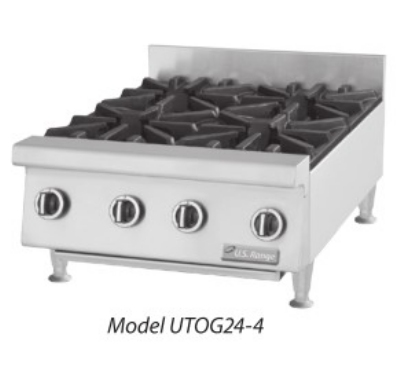 Garland UTOG36-6 LP 36 in Countertop Hotplate, 6 Open Burners, Manual Control, LP