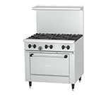 "Garland X366RHTLP 36"" Sunfire 4-Burner Gas Range with Hot Top, LP"