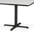Virco 66833 Table Base Fits 36 in x 48 in Tops, 28 in H
