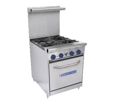 "Bakers Pride 24-BPV-4B-S20 24"" 4-Burner Gas Range w/ Standard Oven, NG"